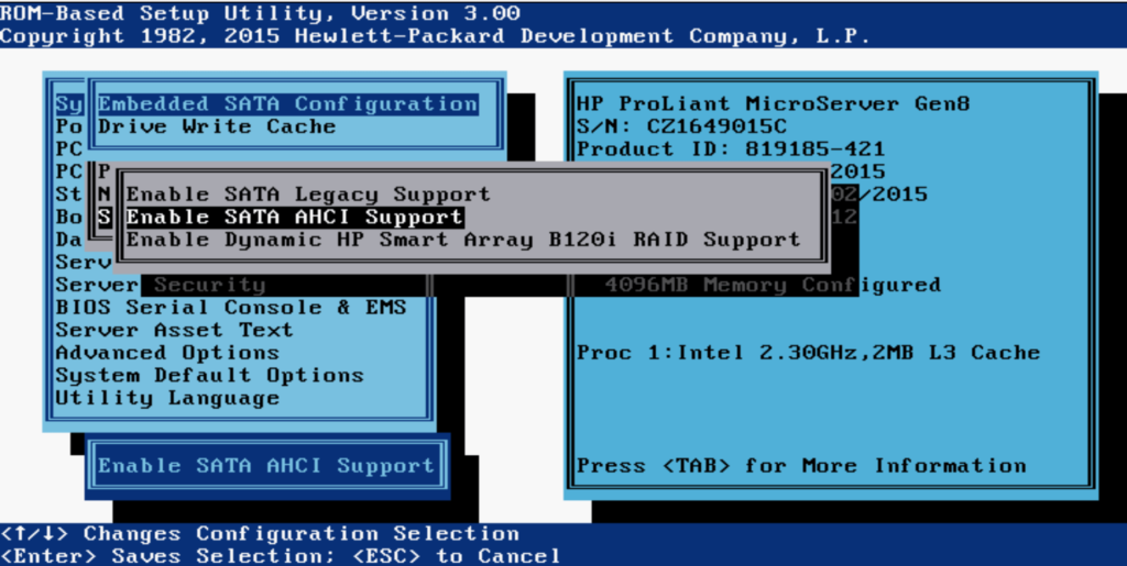 HPE Proliant MicroServer Gen8 подготовка и установка Linux